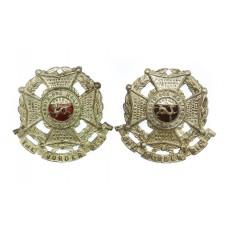 Pair of Border Regiment Officer's Collar Badges