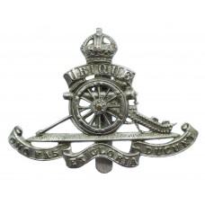Royal Artillery Chrome Cap Badge - King's Crown