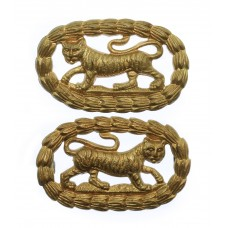 Pair of Leicestershire Regiment Collar Badges
