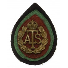 Auxiliary Territorial Service A.T.S. Cap Badge with Original Back