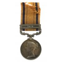 South Africa 1877-79 (Zulu War) Medal (Clasp - 1879) - Pte. J. Roach, 91st Regiment of Foot