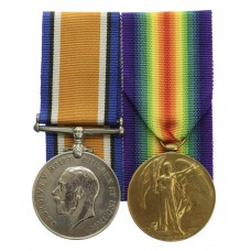 WW1 British War and Victory Medal Pair - Pte. C. Scott, 9th Bn. King's Own Yorkshire Light Infantry - K.I.A. 04/10/17