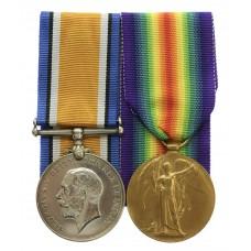 WW1 British War & Victory Medal Pair - Pte. O. Ward, King's O