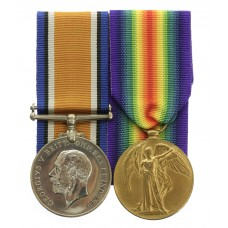 WW1 British War & Victory Medal Pair - Pte. D. Lambert, King'