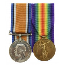 WW1 Prisoner of War British War & Victory Medal Pair - Cpl. R