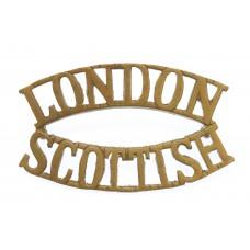 14th County of London Bn. London Regiment (LONDON/SCOTTISH) Shoul