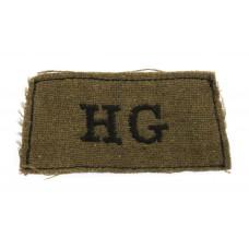 Home Guard (HG) WW2 Cloth Slip On Shoulder Title