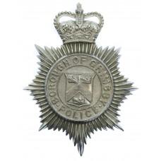 Grimsby Borough Police Helmet Plate - Queen's Crown