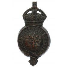 Worcestershire Police Helmet Plate - King's Crown