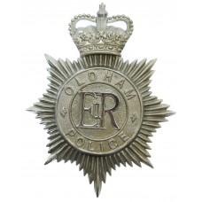 Oldham Borough Police Helmet Plate- Queen's Crown