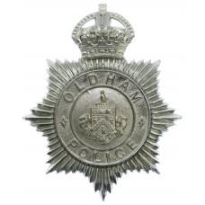 Oldham Borough Police Helmet Plate- King's Crown