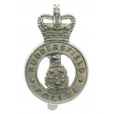 Huddersfield Police Cap Badge - Queen's Crown