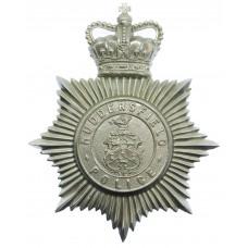 Huddersfield Police Helmet Plate - Queen's Crown
