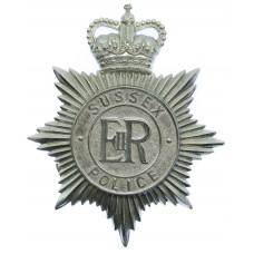 Sussex Police Helmet Plate - Queen's Crown