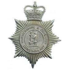 Warwickshire & Coventry Constabulary Helmet Plate - Queen's C