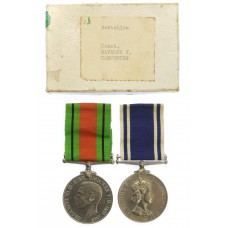WW2 Defence Medal and EIIR Police Long Service & Good Conduct Medal Pair - Const. R.J. Carpenter, Berkshire Constabulary