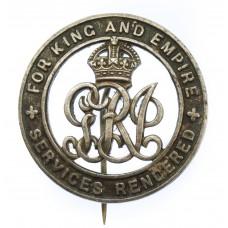 WW1 Silver War Badge - Spr. F.S. Dudley, 9th Signal Coy. Royal En