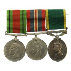 WW2 Defence Medal, War Medal & George VI Territorial Efficien