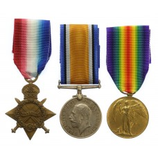WW1 1914-15 Star Medal Trio - Spr. G.S. Thomas, Royal Engineers