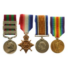 1895 IGS (3 Clasps), WW1 1914-15 Star, British War Medal and Vict