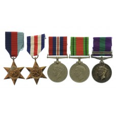 WW2 and General Service Medal (Clasp - Palestine 1945-48) - Gnr.