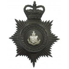 County Borough of Barrow-in-Furness Police Night Helmet Plate - Q