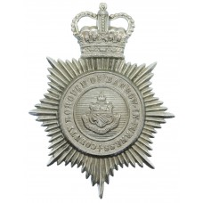 County Borough of Barrow-in-Furness Police Helmet Plate - Queen's