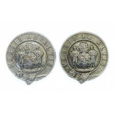 Pair of Tynemouth Borough Police Collar Badges