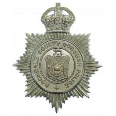 Rochdale County Borough Police Helmet Plate  - King's Crown