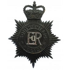 South Shields Police Night Helmet Plate - Queen's Crown