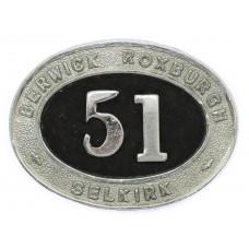 Berwick, Roxburgh and Selkirk Police Epaulette Badge