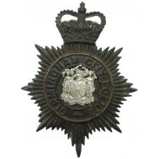 Birmingham City Police Night Helmet Plate - Queen's Crown
