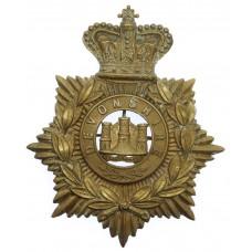 Victorian Devonshire Regiment Helmet Plate
