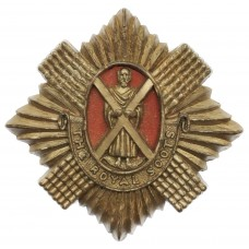 Royal Scots WW2 Plastic Economy Cap Badge