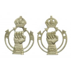 Pair of Royal Armoured Corps (R.A.C.) Collar Badges - King's Crow