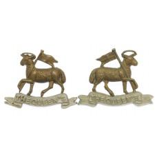 Pair of Queen's (Royal West Surrey) Regiment Collar Badges