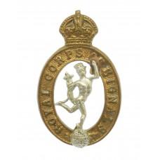 Royal Signals Collar Badge - King's Crown