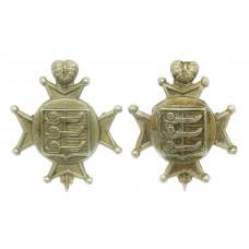 Pair of Cinque Ports Volunteers Rifles Collar Badges