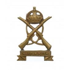 3rd County of London Yeomanry (Sharpshooters) Collar Badge - King