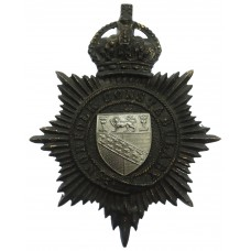 Norfolk Constabulary Night Helmet Plate - King's Crown