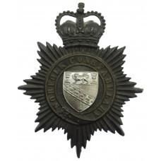 Norfolk Constabulary Night Helmet Plate - Queen's Crown