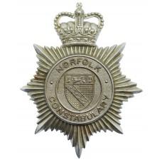 Norfolk Constabulary Helmet Plate - Queen's Crown