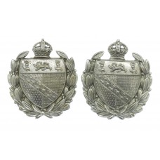 Pair of Norfolk Constabulary Collar Badges - King's Crown