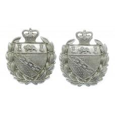 Pair of Norfolk Constabulary Collar Badges - Queen's Crown