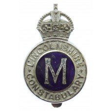 Lincolnshire Constabulary Messenger Cap Badge - King's Crown