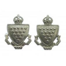 Pair of Cornwall Constabulary Collar Badges - King's Crown