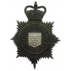 Cornwall Constabulary Night Helmet Plate - Queen's Crown