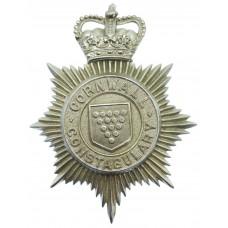 Cornwall Constabulary Helmet Plate - Queen's Crown
