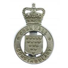 Cornwall Constabulary Cap Badge - Queen's Crown
