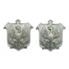 Pair of East Riding Constabulary Collar Badges